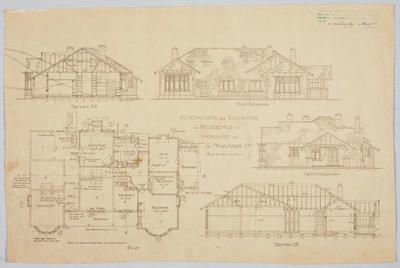 Alterations and Additions to Residence at Incholme for G Newlands Esq