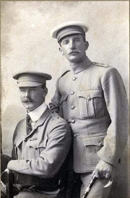 Two unidentified soldiers