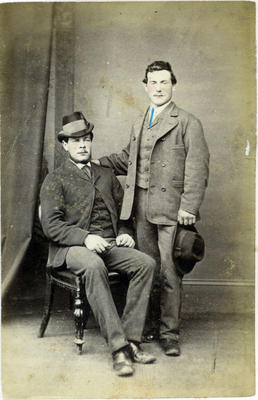 Two unidentified young men