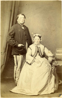 Unidentified middle aged couple