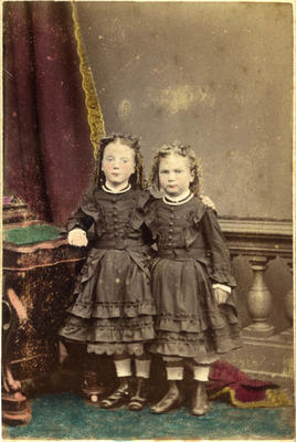 Two unidentified young girls
