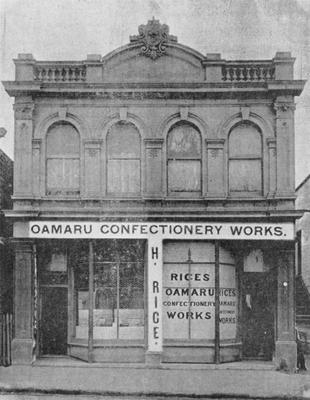Oamaru Confectionery Works, Tees Street, c 1900.