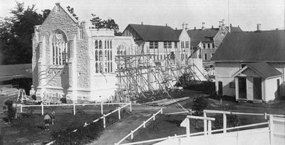 Construction of the Hall of Memories, Waitaki Boys High School