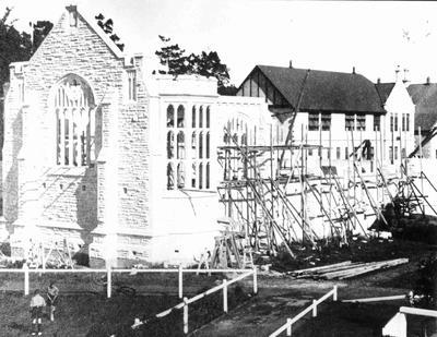 Building of the Hall of Memories at Waitaki boys High School