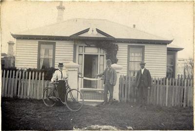 Robert MacDonald at house at Kakanui