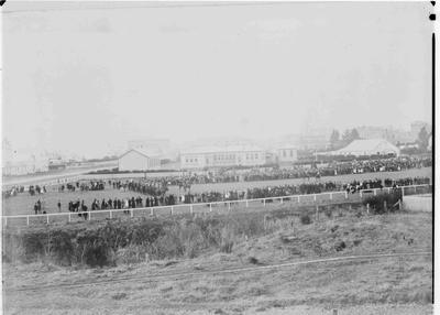 Military parade in Takaro Park, Oamaru