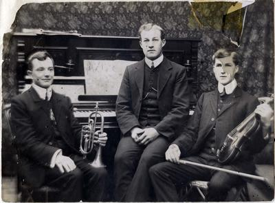 Three musicians, unidentified
