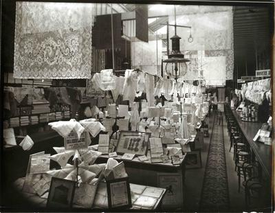 Display of linen and lace, John Bulleid & Company Limited.