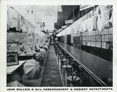 Haberdashery and Hosiery Departments, John Bulleid and Company Limited