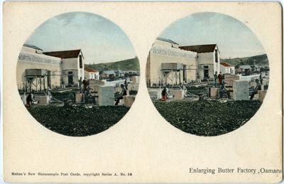 Enlarging Butter Factory Oamaru; Mahan, Robert (b.1862, d.1928); P0019.576