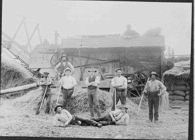 Harvesting, Threshing Group unidentified.