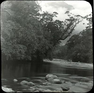 River scene, unidentified