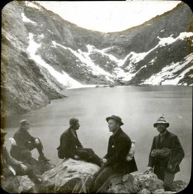 Exploration party at Iceberg Lake