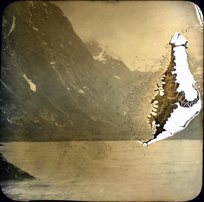 Lake and mountains, unidentified