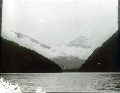 Mountain and lake  scene