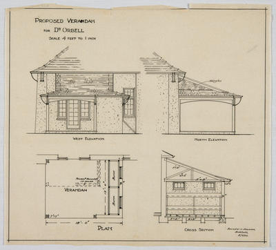 Proposed Verandah for Dr Orbell