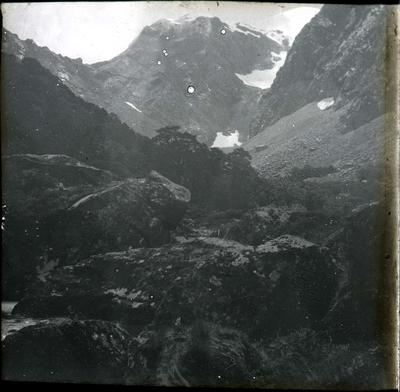 Mountain scene, Hollyford Valley