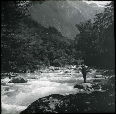 Man beside a river