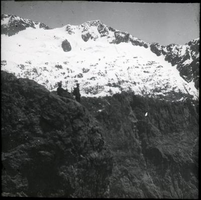 Men on a mountain, Moraine Creek.; 2019/192.2.90