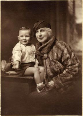 Mary Ann or Sophia McDonald and small boy