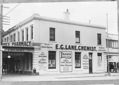 E. G. Lane, chemist at the corner of Thames and Wear Streets