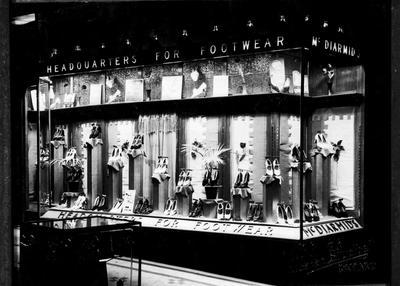 McDiarmid's display window, 1936.