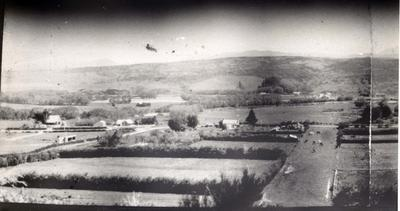 View from a hill of an unidentified town.