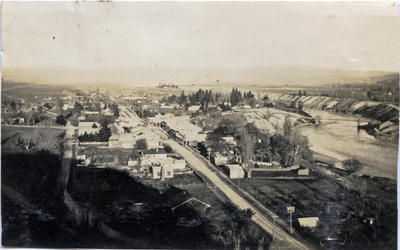 View of a small town, location unidentified.