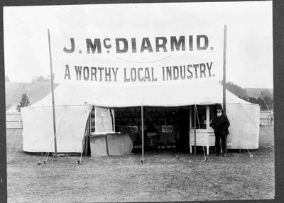 J McDiarmid's Display Tent at A and P Show, North End Showgrounds