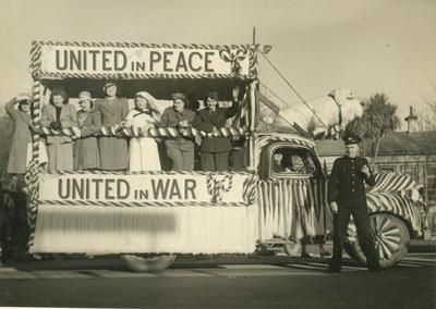 Woollen Mills Float 16th August 1945