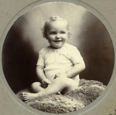 Portrait of an unidentified baby.