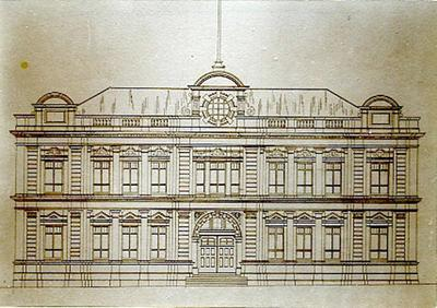 Sketch of Town Hall and Opera House