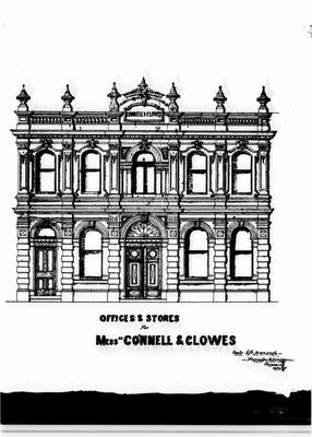 Connell & Clowes Offices and Store, (Forrester and Lemon sketch).
