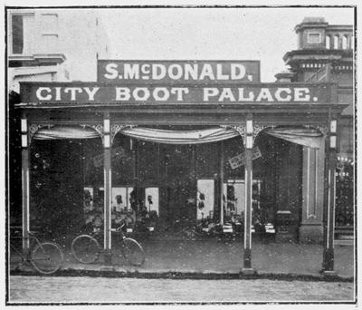 S. McDonald, City Boot Palace, Thames Street (space later occupied by John Bulleid and Co)
