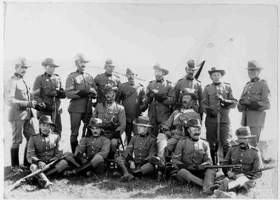 North Otago Mounted Rifles at encampment after 1895.