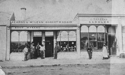 Itchen Street shops. Kearns & McLean. J. Waddell