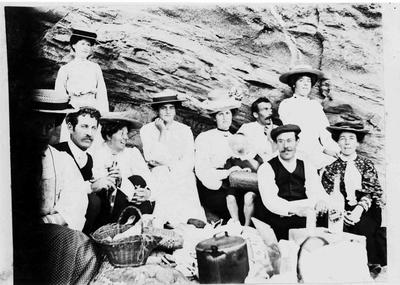 Picnic at Fishermans Bay, Cape Wanbrow, 1903.