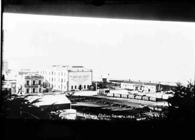 Elevated View, Oamaru. Old Railway Station Oamaru 1894