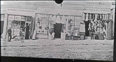 Early Shops in Wansbeck Street, c.1867