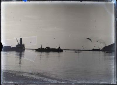 "Dredge ""Progress"" near Holmes Wharf"