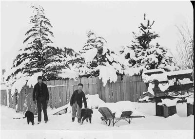 Kurow under snow, Bell brothers.