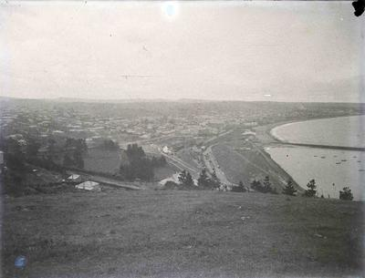 Oamaru from Cape Wanbrow, facing North