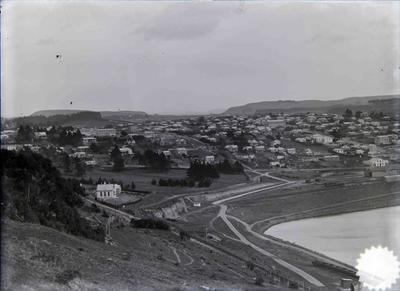 Oamaru view from Cape Wanbrow facing west