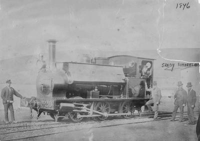 Sutherland, Sandy. Engine Oamaru Railway Station