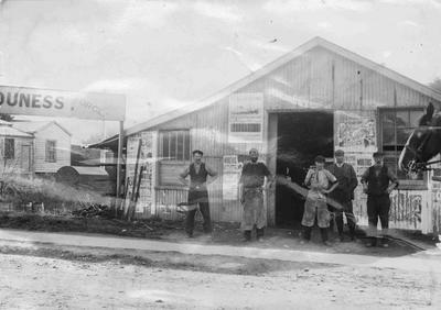 Staff of Thomas Souness, Blacksmith & Wheelwright, Steward Street