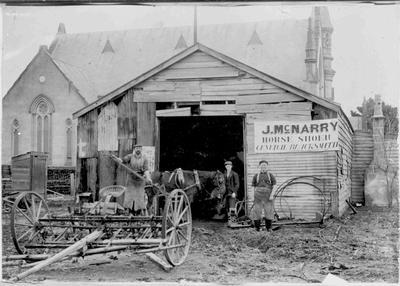 J. McNarry, Horse Shoer, General Blacksmith, Coquet Street