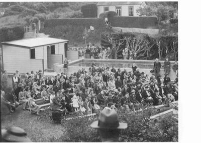 Opening North School Baths.