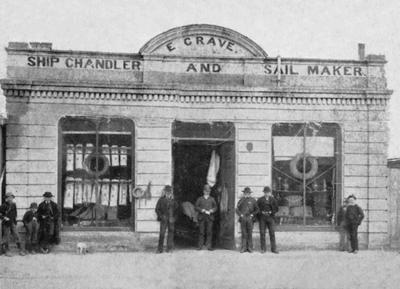 E. Grave, Ship Chandler and Sail Maker, Tyne Street. (Later G T Gillies office.)