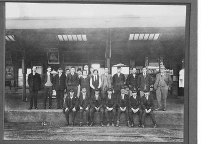 Railway Staff Oamaru c.1920.