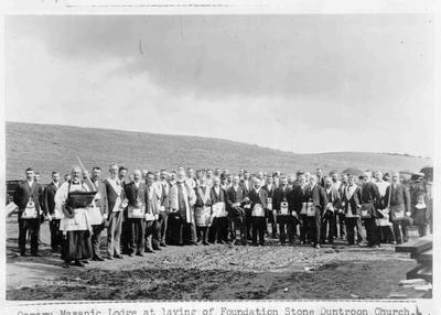 Oamaru Masonic Lodge at laying of foundation stone Duntroon Church